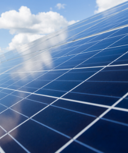Solar panels in our services