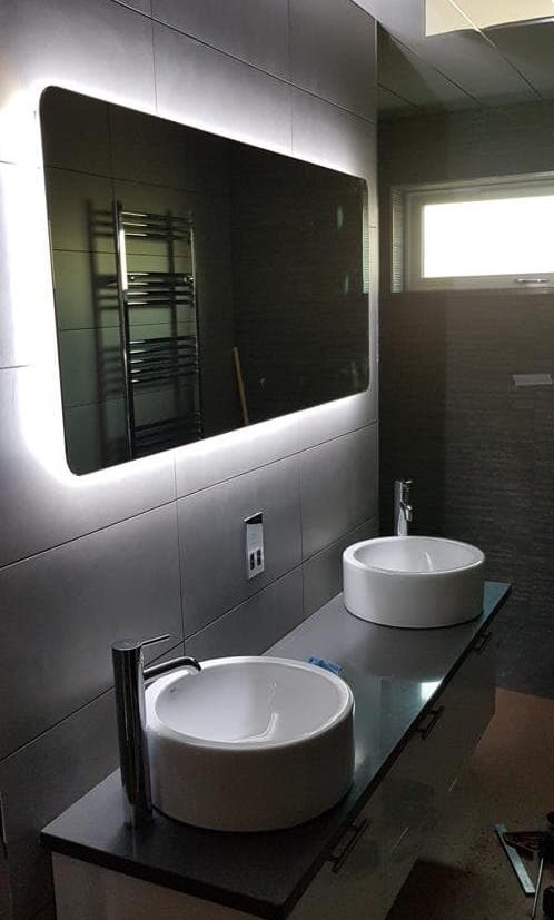Finished bathroom by Greystone Energy